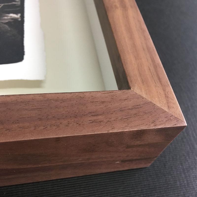 立体悬浮榫卯结构实木框
